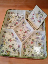 5 Part Porcelain Relish Tray Corona by Sadek West Springfield