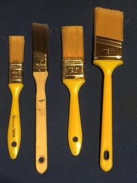four yellow paint brushes Toronto, M5P 2V4