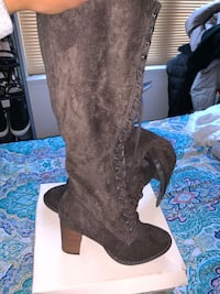 Pair of brown suede knee high boots Windsor Mill, 21244