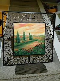 Metal framed artwork