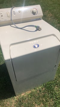 Maytag.  Dryer  works. Good   But just  been sitting. Outside but selling. It Bc. We got. A new bigger. One. But good condition make.  A. Offer no. Less. Then. 30 Indian Head, 20640