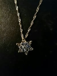Snowflake with blue stones null