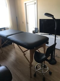 Esthetician Bed with Saddle Chair and Lamp Orlando, 32837