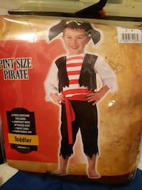 new toddler costume size  3 - 4