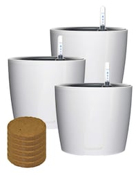 7 inch Self Watering Planter with Fiber Soil (3 pcs)