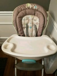baby's white and gray high chair Pikesville, 21208