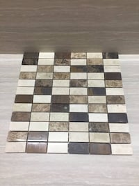 Real marble and copper mosaic tiles Surrey, V3S 3P1