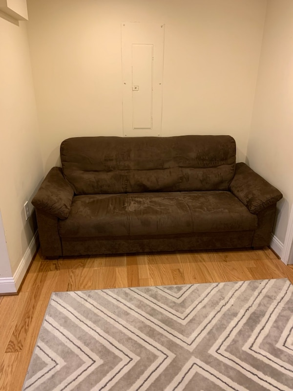Suede couch