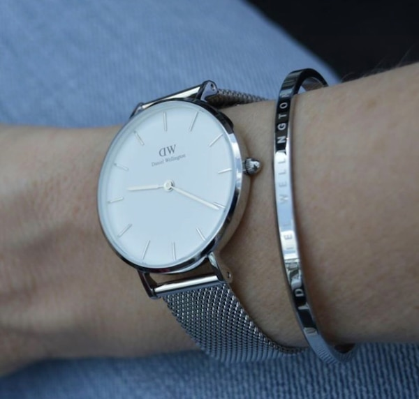 a0f1554a6200 Used Brand New Daniel Wellington Women s Silver Watch for sale in ...