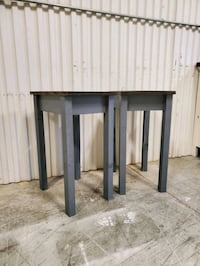 Matching farmhouse nightstands or end tables