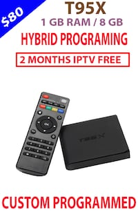 ANDROID TV BOX IPTV FOR SALE 8GB  Brampton
