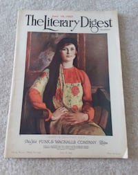 Vintage The Literary Digest Magazine- collectible issue July 18, 1927 Santa Fe, 87508