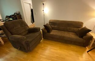 Sofa Couch + Lazy Boy Recliner Chair