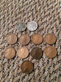 11 WHEAT PENNIES(INCLUDES 2 STEEL PENNIES) Philadelphia, 19152