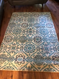White, blue, and brown floral area rug Saint Louis, 63138