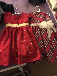 two  dresses size 4T $10 for both  or $5 each. Pu in Ruskin