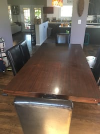 Dining Set (dark wood), and pleather chairs  Leesburg, 20176
