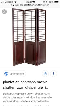 Plantation wood shutters by pier1 import Vienna, 22181