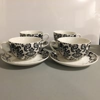 BOWRING *new damask print cup and saucer set Surrey