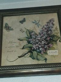 purple-and-pink lilacs painting and brown frame Moreno Valley, 92551