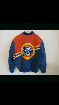 VTG. Leather Tide Downy Bomber Nascar Jacket SZ. L Toronto, M6L