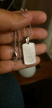 Necklace dog tag hiphop style sterling silver Mississauga, L5J 2B9