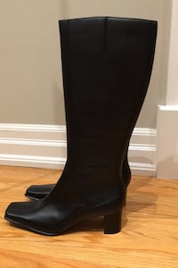 Ann Marino black knee high boots