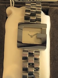 Gucci 3600L G Face w Silver Dial SS with 4 Extra Links & Box Woodstock, 30188