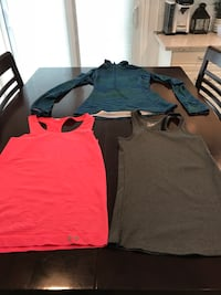 two red and gray crew-neck shirts Brantford, N3P 1K9