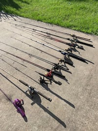 Fishing rod with reels