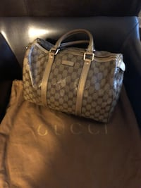 brown and tan monogram Gucci leather tote bag Fairfax, 22033