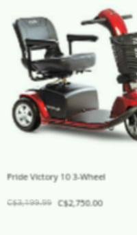 black and red mobility scooter screenshot Toronto, M6P 2S2