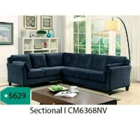 black suede sectional sofa with ottoman Garland