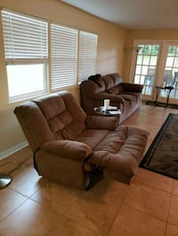 Couch Sofa and Double wide recliner.  Clearwater, 33759