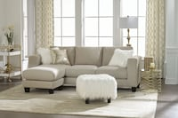 NEW SOFA CHAISE WITH FAUX FUR OTTOMAN  Clifton, 07013