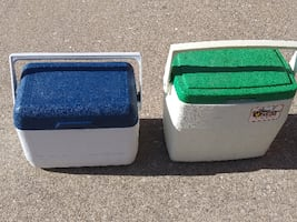 2 Coleman Oscar ICE CHEST Coolers  Perfect for Lunch !