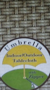 Outdoor Umbrella Tablecloth