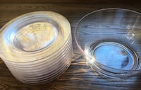 "Huge Acrylic Bowl & 10 Plates (11"") Rocky Point, 11778"