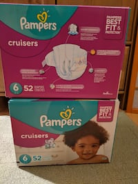Diapers: Size 6 Pampers Cruisers - 2 x 52 Reston