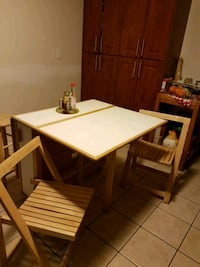 rectangular white wooden table with chairs Burlington, L7P 2H9