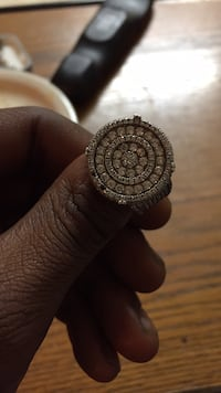 Round silver-colored ring Buffalo, 14216