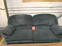 Blue double recliner sofa Chicopee, 01013