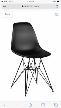 4 Brand new plastic chairs with black metal base. Never used Potomac, 20854
