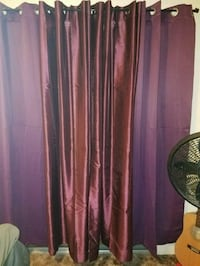 2 plum sheer curtians Redding, 96002