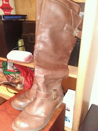 Womens sz 8 Brown Leather Boots Junction City, 97448