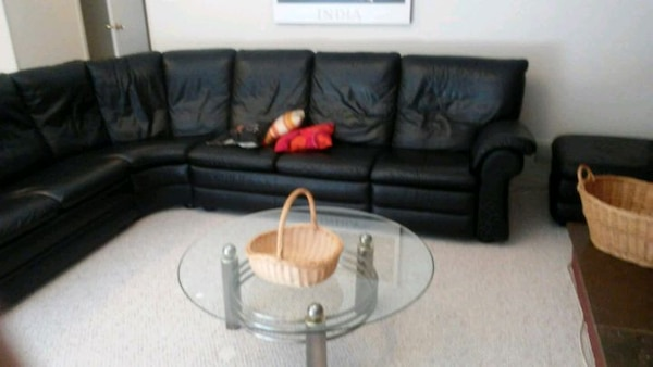 Huge Black Leather Sectional Glass table included a07ccb58-e5b7-4aa8-855c-0d4fd139449b
