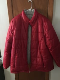 red zip-up bubble jacket New Lenox, 60451