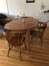 Solid wood table with four chairs and buffet. Kirkland, H9H 3S4