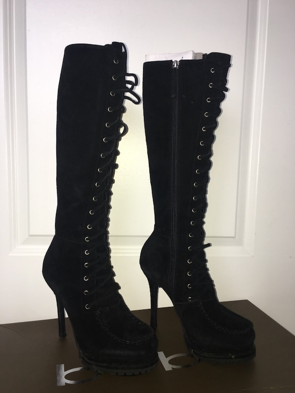 bebe Women's Rowdy Knee High Boots Size 8.5M 0