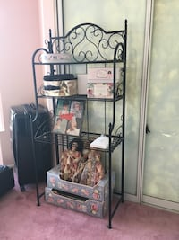 Black metal wire shelf cabinet folds up flat from Paris Mississauga, L5R 4C6